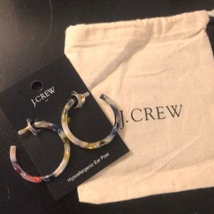 Jcrew colorful hoop earrings